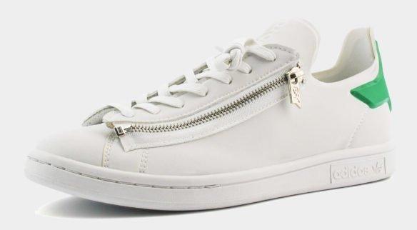 Adidas Y-3 Stan Smith Zip белые с зеленым
