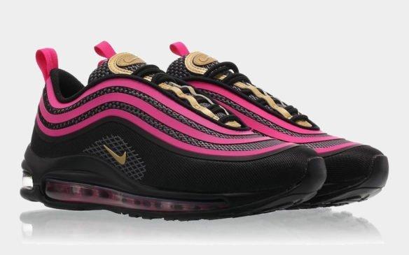 Фото Nike Air Max 97 Ultra черно-розовые - 1