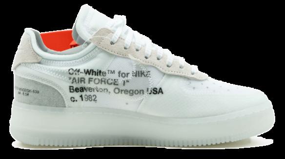 Фото OFF WHITE x Nike Force Белые - 1