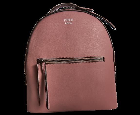 Фото розовый кожаный рюкзак - 1